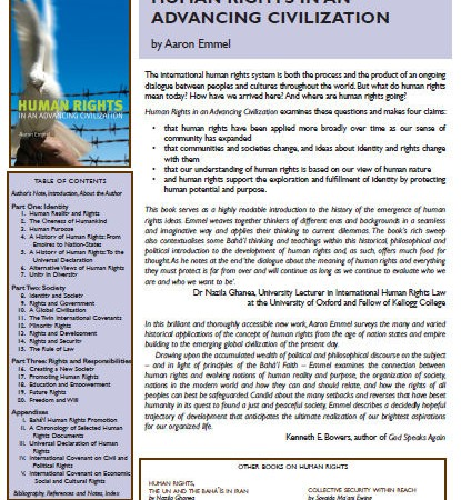 Human Rights in an Advancing Civilization flyer